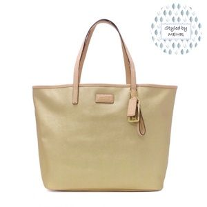 COACH Park Metro Leather Tote Bag - Gold